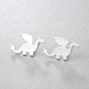 Jewelry - Dainty Silver Dragon Earrings B4